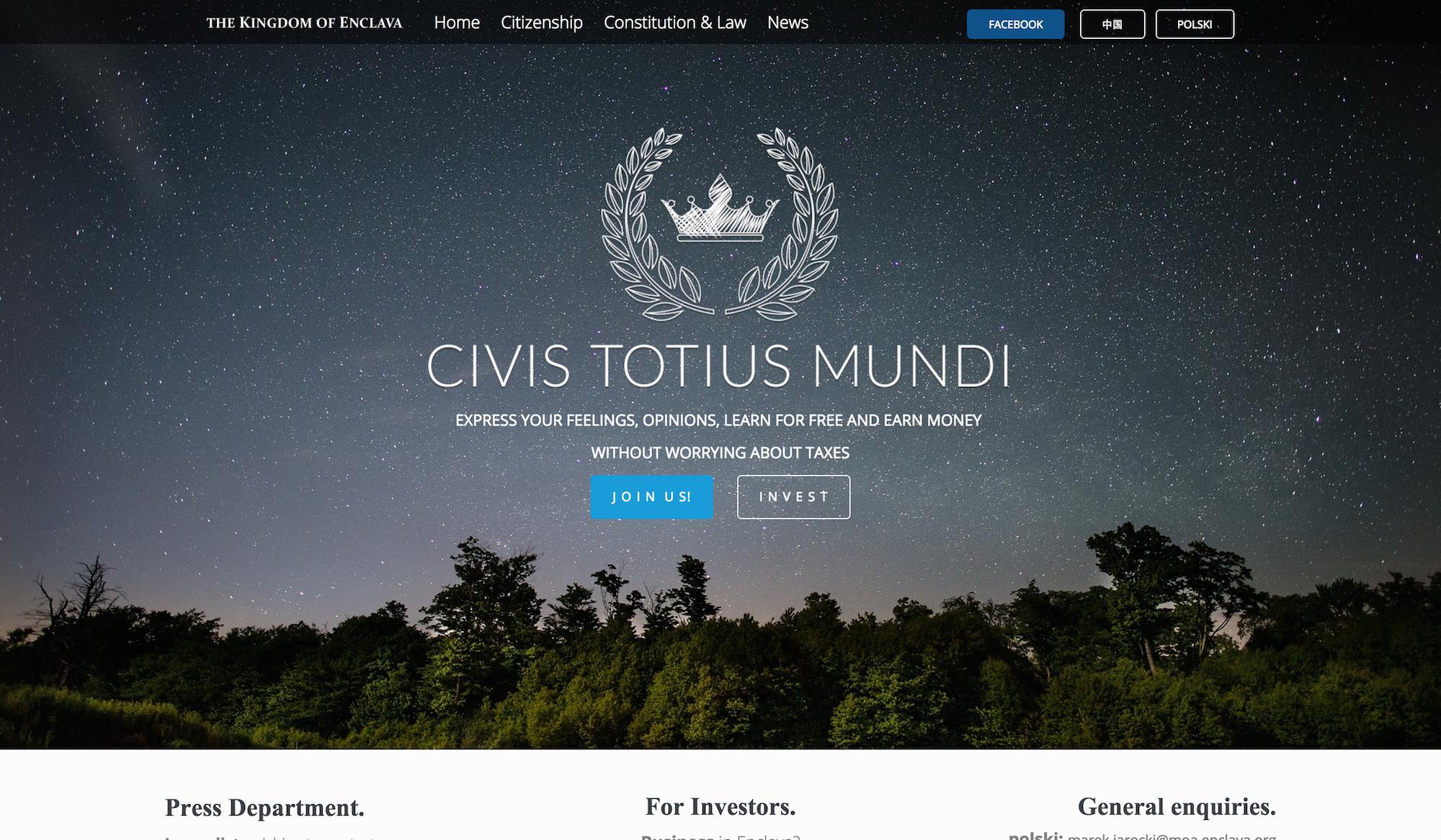 enclava.org   The Kingdom of Enclava – Official Website